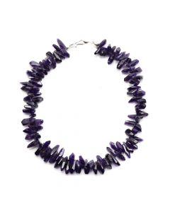 "Miramontes - Amethyst Nugget Necklace, 18"" length"