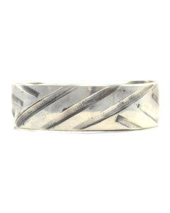 Miramontes - Sterling Silver Decco Bracelet Cuff, size 6.75