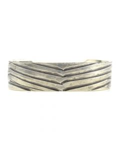 Miramontes - Sterling Silver Chevron Bracelet Cuff, size 7