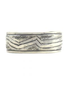 Miramontes - Sterling Silver Mimbres Design Bracelet Cuff, size 7