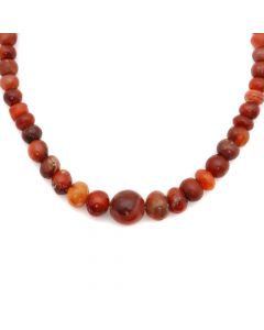 "Miramontes Necklace with Extremely Rare, Old, Graduated Carnelian Beads, 25"" length (J91305-0920-007)"