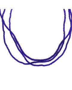"Miramontes Three-Strand Cobalt Bead Necklace, 24"" length (J91305-109-010)"