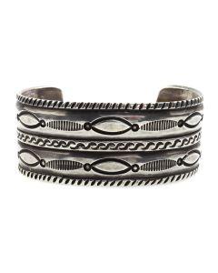 Miramontes Old Style Silver Bracelet, Size 6.5