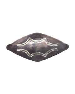 "Navajo Arts and Crafts Guild Silver Pin c. 1940s, 1.125"" x 2.5"""