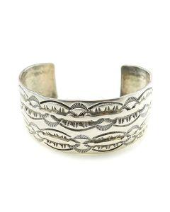 Navajo Stamped Sterling Silver Bracelet, Size 7.5