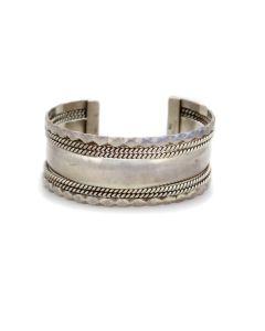 Tahe - Navajo Contemporary Sterling Silver Bracelet, 6.25 (J91369B-0321-067)