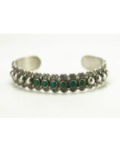 SOLD Navajo Maisels of Albuquerque Sterling Silver and Turquoise Bracelet