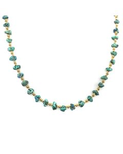 Frank Patania, Jr. - 14K Gold and Turquoise Necklace (J91620A-0217-012)