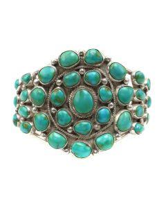 Navajo Turquoise Cluster Bracelet c. 1950s (J91660-1219-001)