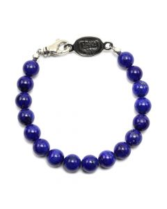 Sam Patania - Lapis Lazuli and Sterling Silver Beaded Bracelet, size 7 (J91699-0520-023)