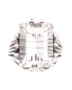 """Sam Patania Collection - """"Grand Cathedral Ring"""" White Topaz and Sterling Silver Ring, size 6.5 (J91699-0720-013)"""