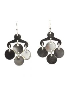 """Sam Patania Collection - """"Chandelier"""" Sterling Silver French Hook Earrings, 2"""" x 1.25"""" (J91699-0720-018)"""