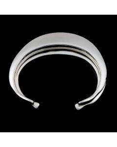"""Sam Patania Collection - """"Tribal Blade"""" Couture Sterling Silver Bracelet, size 5.75 (J91699-0720-027)"""