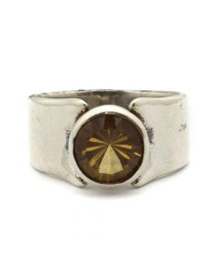 "Sam Patania Collection - ""Super Nova"" Citrine and Sterling Silver Ring, size 6 (J91699-0720-045)"