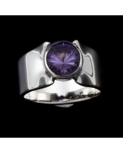 """Sam Patania Collection - """"Super Nova"""" Amethyst and Sterling Silver Ring, size 6 (J91699-0720-047)"""