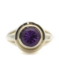 """Sam Patania Collection - """"Lively Tabriz"""" Amethyst and Sterling Silver Ring, size 6.5 (J91699-0720-050)"""