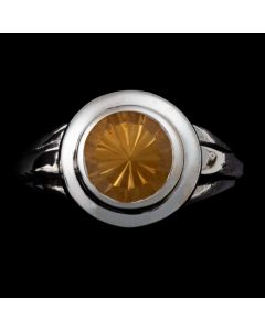 """Sam Patania Collection - """"Lively Tabriz"""" Citrine and Sterling Silver Ring, size 6 (J91699-0720-055)"""