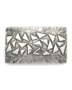 "Sam Patania - ""Galaxy 1.5"" Couture Sterling Silver Buckle, 1.75"" x 3"" (J91699-0820-001)"
