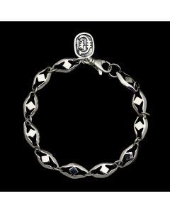 "Sam Patania Collection - ""Gallant Diamond Chain"" Sterling Silver Link Bracelet, size 8 (J91699-1020-002)"