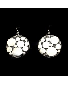 """Sam Patania Collection - """"Lively Dots"""" Sterling Silver Earrings, 1.5"""" x 1"""" (J91699-1020-022)"""