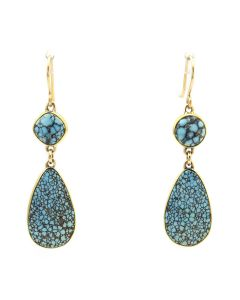 Sam Patania - Number 8 Turquoise and 18K Gold Hook Earrings (J91699-1120-006)