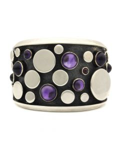 Sam Patania - Amethyst and Silver Bracelet, size 6.5 (J92239-0820-002)