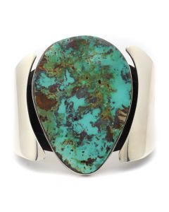 Sam Patania - Pilot Mountain Turquoise and Sterling Silver Bracelet, size 6 (J92239-1020-001)