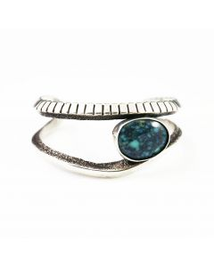 SOLD Preston Monongye - Hopi Turquoise and Silver Bracelet