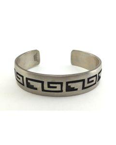 SOLD Manuel Hoyungwa (1953-2011) - Hopi Silver Overlay Bracelet