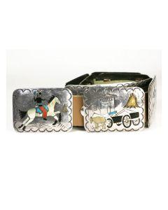 Benson Boyd - Navajo Multi-Stone Inlay and Silver Storyteller Belt