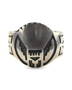 Hopi Silver Overlay Bracelet c. 1960s, size 6.25