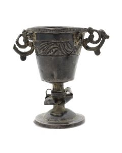 "Bolivian Colonial Chalice c. 1700s, 3"" x 3"" x 1.75"" (JH002)"