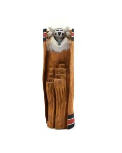 "Hopi Snow Maiden Cottonwood Root Kachina, signed ""Mike H."" c. 2010, 10"" x 3"" x 4"""