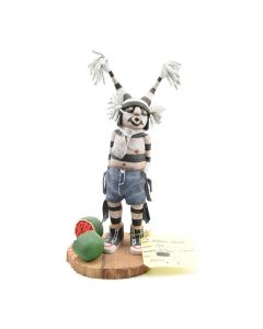 "Andrew Grover - Contemporary Hopi Clown Kachina with Melons, 8.5"" x 4"" x 4.5"""