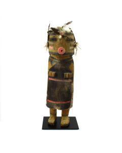 """Hopi Hano Mana Kachina c. 1910s, 13.25"""" x 3.5"""" x 2.5""""1"""