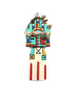 Ted Puhuyesva, Hotevilla - Hopi Hemis (Niman or Going Home) Cradleboard Kachina (K1534)