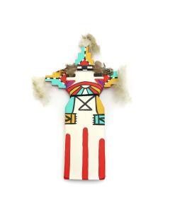 Ted Puhuyesva, Hotevilla - Hopi Pahlik Mana (Butterfly Kachina Maiden) Cradleboard Kachina (K1556)