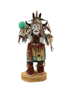 "R. Laddy – Hopi White Buffalo Dancer Kachina c. 2002, 13"" x 4.5"" x 5"" (K1601)"