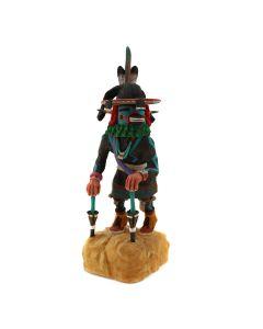 "Leon Dallas – Hopi Black Ram Dancer Kachina c. 2000, 10"" x 4"" x 4"" (K1609)"