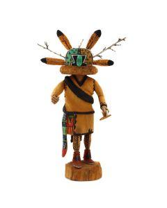 "Darrell Youvella – Hopi Germ God Kachina (Ahola / Mong / Chief) c. 1999, 7.75"" x 4.5"" x 2.5"" (K1610)"