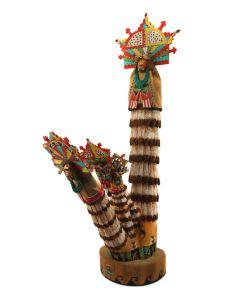 "Ron Honyumptewa – Hopi Shalako Kachinas c. 1992, 18"" x 5"" x 9.5""(K1617)"