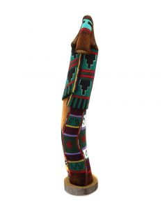 """Jerry Guy (Navajo) - Carving of a Hopi Long-Haired Kachina c. 1990-2000s, 22.5"""" x 4.5"""" x 4.75"""" (K1618)"""