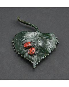 Mark Rossi - Ladybugs on Cottonwood Leaf