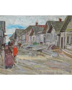 SOLD Leon Gaspard (1882-1964) - Russian Village Wooden Houses Number 6