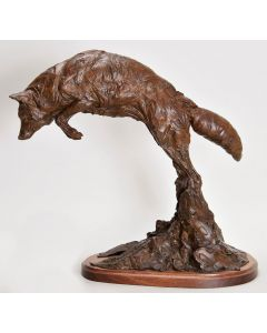 SOLD Richard Loffler - Mousing Coyote