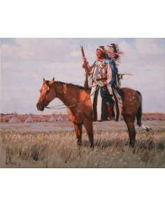 Fred Fellows - Lord of the Plains (Giclee Print on Canvas)