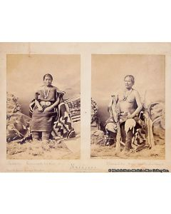 Charles Milt Bell (1848-1893) - Original Research photograph of Juanita and Manuelito Navajo