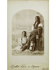 """William R. Cross (1839-1907) - Spotted Tail and Squaw Brule Sioux, 8.5"""" x 5.25"""" (M1059C)"""