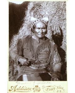 """Geronimo of Yesterday Cabinet Card, c. 1900s, 6.5"""" x 4.25"""" (M1317)"""