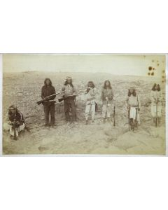 """C. S. Fly (1849-1901) - Apache Scouts Under the Command of Lt. Mans During General Crook's Campaign, 1886, 4.75"""" x 7.8"""" (M1331)"""
